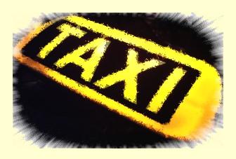 So sieht ein Taxi Dachzeichen aus